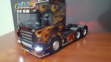 New 1/14 Tamiya Rc Truck Scania 6x4 Lightbar Set V2 Front and Side 127mm