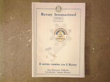Rotary International - Distretto 2120 Puglia e Basilicata -  Anno 1998 / 99