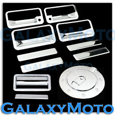 88-98 CHEVY C+K 1500+2500+3500 Chrome 4 Door Handle+PSG KH+Tailgate+GAS Cover