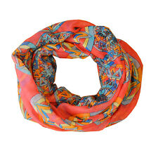 New Coral Compass Light Weiget  X-Lgrge Infinity Scarf Loop Cowl