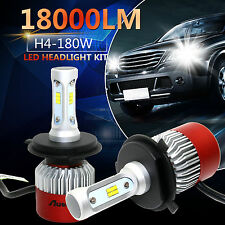 2x H4 180W 18000LM PHILIPS Car LED Headlight Kit Hi/Lo Bulbs 6500K High Power US