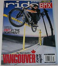 Ride BMX Magazine March 2003 Fly Bikes In Spain Vancouver Scene Report FBM