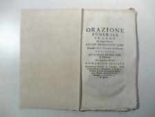 SCHIAVO Domenico, Orazione in lode di Anton Francesco Gori
