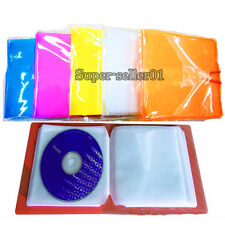 1PCS Plastic CD Disc Protector Double Sleeve Holder Clear Storage Bag Package