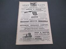 Army Navy Journal,Original October 18 1890 Hartley And Graham Hotchkiss Union