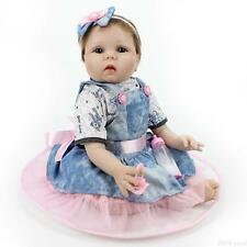 Realistic Baby Reborn Soft Vinyl Real Looking Baby Girl Doll Newborn 22 inch