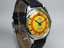VINTAGE TECHNOS 17JWLS HAND-WINDING SWISS MADE COLOR DIAL WRIST WATCH AU86