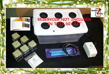 18 Piece DIY Kit (6) Site Hydroponic Grow System W/ Nutrients & pH Test..more !!