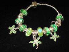 sterling silver green emerald luck of the irish charm bracelet new for 2016