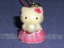 Hello kitty Pearl Princess Dress Mobile Cell Phone Charm Strap Decoration
