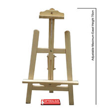 70CM ARTIST PAINTING STUDIO TRIPOD ADJUSTABLE WOODEN EASEL DRAWING DISPLAY STAND