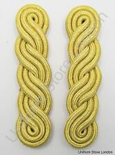 Shoulder Cord in Gold Mylar 3 ply x 5 curls Red Backing & Strap R1538