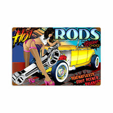 Muscle Car Hot Rod Rods Choise Pin Up Comic Retro Sign Blechschild Schild Groß