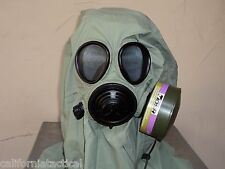 Military 40mm/NATO Gas Mask w/Drink Port, Hood, Pouch & NBC/CBRN Filter Exp 2024