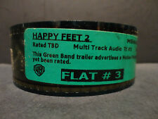 Happy Feet 2 2011 35mm Trailer #3 film collectible cells FLAT 1 min 44 sec.