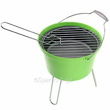 BBQ Outdoor Barbecue Bucket Portable Charcoal Camping Grill Festival Fire Camp