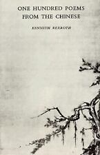 One Hundred Poems from the Chinese by Kenneth Rexroth (1971, Paperback)