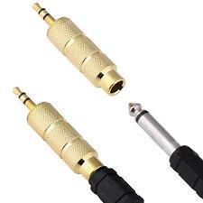 1pcs Macho 3.5 mm A 6.5 mm Hembra Conector Jack Stereo Audio Conector Adaptador
