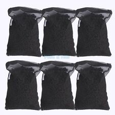 6 lbs Activated Carbon in 6 Media Bags for Aquarium Fish Pond Canister Filter