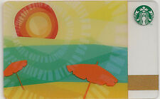 Starbucks Gift Card - Umbrella Sunset - Collectible