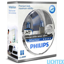 H1+w5w PHILIPS whitevision-intenso xenon-effetto-Duo-Pack