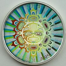 Canada 2014 $20 Interconnections: Land The Beaver 1 oz Pure Silver Hologram Coin