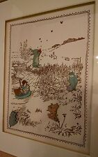 Disney's Classic Winnie the Pooh Pin Set Framed Artwork Limited Edition 5 pins