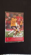 Football Programmes European Champions League Semi  Arsenal V Man United 2008/09