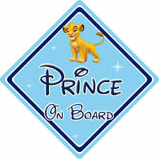 Disney Prince On Board Car Sign – Baby On Board – Lion King Simba