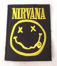SEWING IRON ON EMBROIDERED PATCH NIRVANA GRUNGE ALTERNATIVE BAND MUSIC ROCK