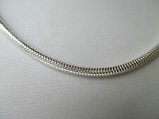 UK Jewellery (20 inch x 3 mm) 925 Sterling Silver Snake Necklace Penadant Chain