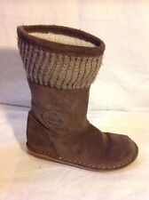 Girls Clarks Brown Suede Boots Size 9.5F