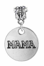 Mama Mother Word Mom Madallion Daughter Dangle Charm for European Bead Bracelet