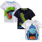 New Baby Kids Boys Cartoon Summer Short Sleeve Tops T-shirt Blouse Clothes 6M-6Y