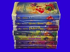 8 Black Diamond Disney Classics VHS Video Lot Jungle Book Mermaid Beauty Beast
