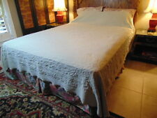 """MATELASSE BEDSPREAD COVERLET QUEEN SAGE 95 X 95"""" FRENCH COUNTRY"""