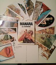 Milo Manara Le Donnine 15 cartes postales  dans leur portfolio