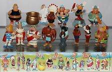 KINDER SURPRISE SET ASTERIX OBELIX VIKINGS FERRERO FIGURES CAKE TOPPERS +1 PAPER