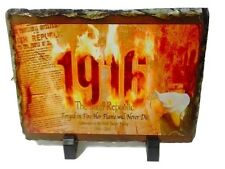 1916 Proclamation Flame Lily Slate - Irish Republican Easter Rising Picture