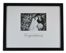 11x14 Wedding Wood Wall Frame for 5x7 Picture with Signature Mat Black