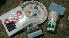 Paperchase Boy Girl Sea Fish Crab Birthday Party Set Plate Cup Napkins Candles