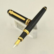 Duke D2 Fountain Pen - Black w Gold Trim, Med-Fine (New in Box) SHIPS FROM USA