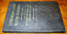 1918 1919 1920 1921 Guide To Motor Efficiency Book Ford Chevy Buick Dodge Hudson