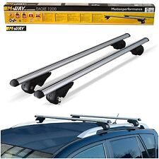 M-Way 90kg Lockable Aluminium Roof Rack Rail Bars for Mazda 6 Fastwagon (03-13)