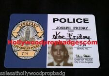 "Joe Friday ""DRAGNET"" 60's Tv Show ID Card Prop"