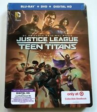 NEW DC JUSTICE LEAGUE VS TEEN TITANS BLU RAY DVD TARGET EXCLUSIVE STEELBOOK