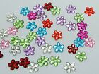 500 Mixed Color Acrylic Flatback Flower Rhinestone Gem 10mm Scrapbooking Craft