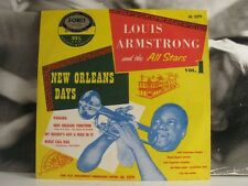 """LOUIS ARMSTRONG AND THE ALL STARS - NEW ORLEANS DAYS VOL. 1 10"""" G/EX FONIT ITALY"""
