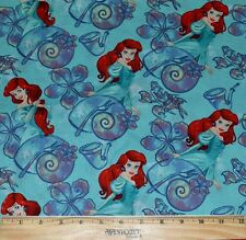 LITTLE MERMAID FABRIC!  BY THE HALF YARD! ARIEL~DISNEY PRINCESS! SEBASTIAN!