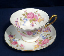 Rare Shelley Fine English Bone China Tea Cup and + Saucer Set Red Rose and Tulip